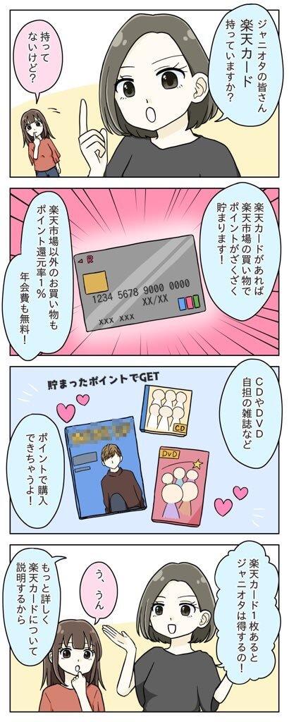 ジャニヲタは楽天カードが節約になる